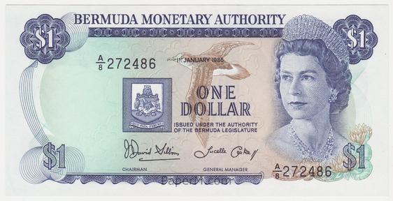 Bermuda 28c Banknote Front